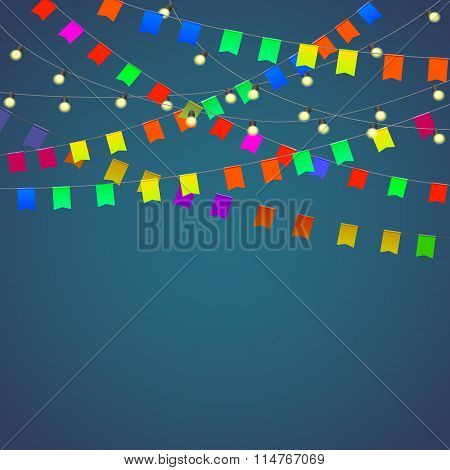 Festival background with garland