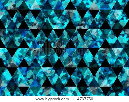 Abstract Shapes Triangle Background Water Blue