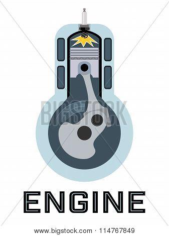 Moto engine symbol