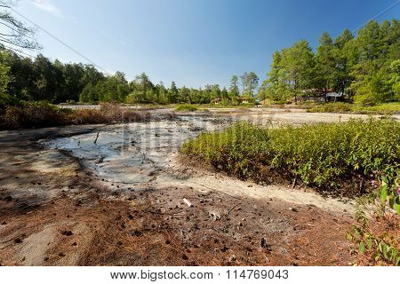 Sulphurous Lakes Near Manado, Indonesia