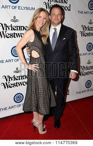 vLOS ANGELES - JAN 9:  Lauralee Bell, Scott Martin at the The Art of Elysium Ninth Annual Heaven Gala at the 3LABS on January 9, 2016 in Culver City, CA