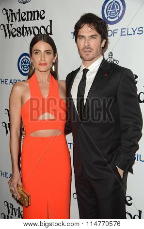 vLOS ANGELES - JAN 9:  Nikki Reed, Ian Somerhalder at the The Art of Elysium Ninth Annual Heaven Gala at the 3LABS on January 9, 2016 in Culver City, CA