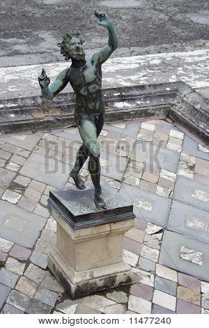 Dancing faun in Pompeii