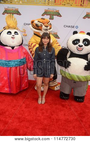 LOS ANGELES - JAN 16:  Haley Tju, Mei Mei, Tigress, Po, Animated Characters at the Kung Fu Panda 3 Premiere at the TCL Chinese Theater on January 16, 2016 in Los Angeles, CA