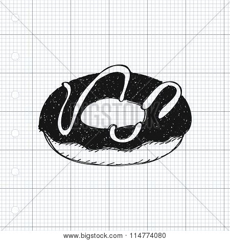 Simple Doodle Of A Doughnut