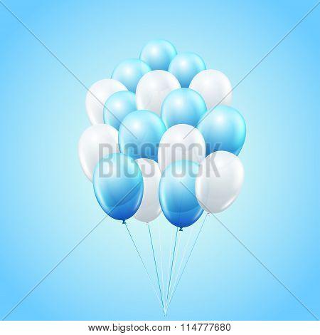 Vector balloon bunch