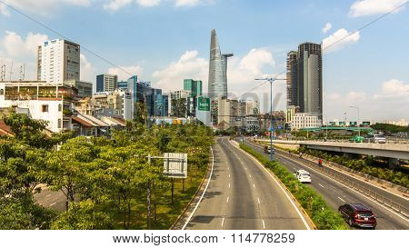 HO CHI MINH, VIETNAM - JAN 14, 2016: Views of Ho Chi Minh City (Saigon). Is located in the South of Vietnam, is the country's largest city, population 8 million.