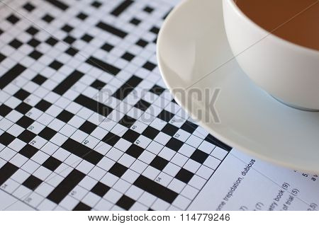 Crossword and tea