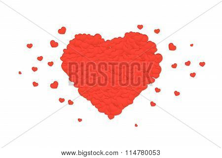 Valentines Composition Of The Hearts. Vector Illustration...