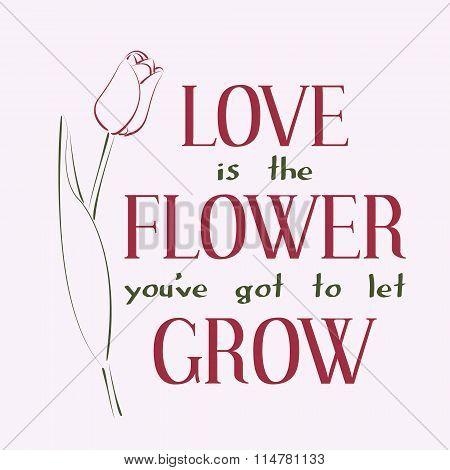 Love is the flower you ve got to let grow.