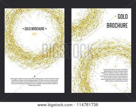 Golden Brochure  Template 1