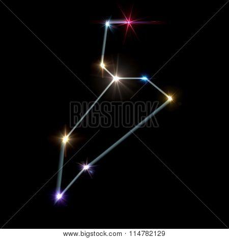 Leo Horoscopes With Black Background