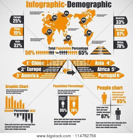 Infographic Demographic New Style 10 Orange