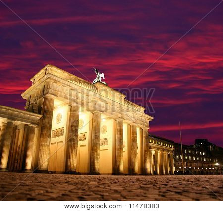 Dawn at Brandenburg Gate in Berlin