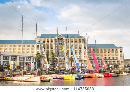 Regatta Sailing Boats At Cape Town Waterfront