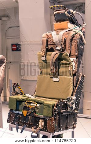 Ejection Seat In The Navy Ship Uss Intrepid at New York City Museum