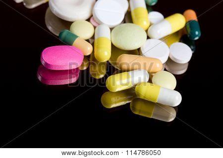 Pills On Mirror