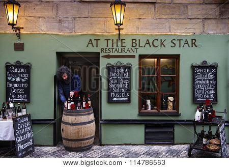 Prague,Czech Republic - January 11, 2016 : Restaurant