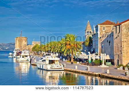 Historic Trogir Waterfront Architecture View