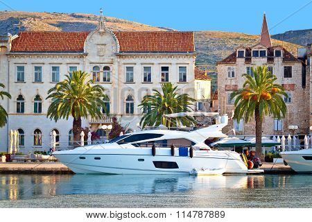 Adriatic Town Of Trogir Seafront View