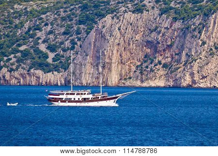 Sailing By The Cliffs Of Solta Island