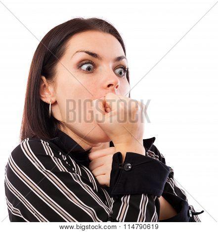 Businesswoman In Shock