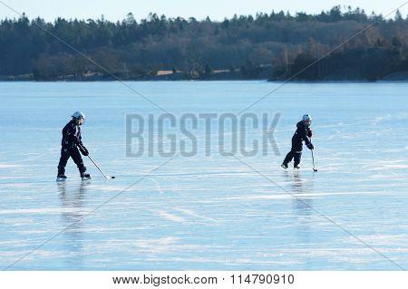 Hockey On Sea Ice