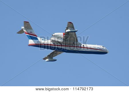 Seaplane Beriev Be-200 In Flight