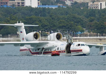 Seaplane During The Rescue Training