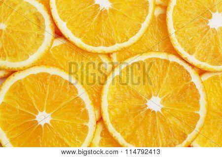 fresh slices of an orange.