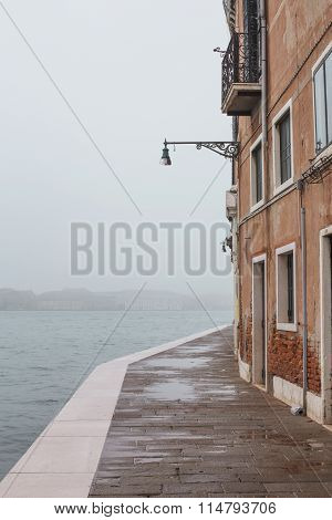 Fog Venice Street, Italy