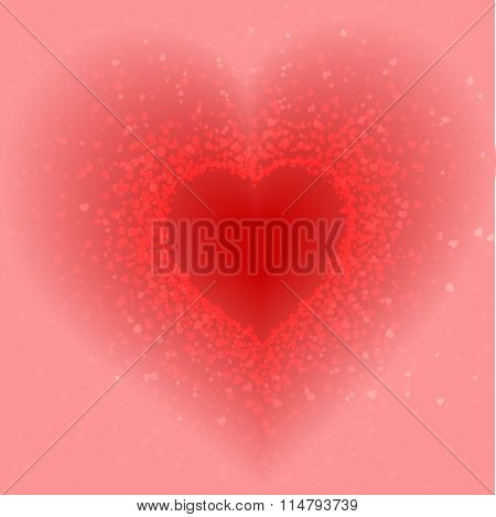 abstract pink background of little hearts