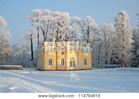 Tsarskoye Selo. Russia. The Upper Bathhouse Pavilion