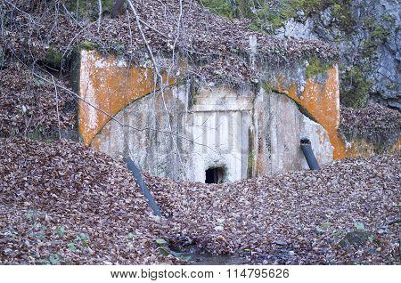 Concrete Entrance To The Closed Mine