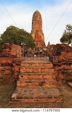 Phra Ram Temple (Wat Phra Ram) ruins in province of Ayutthaya, Thailand
