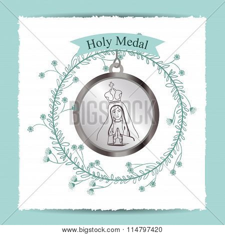 holy medal  design