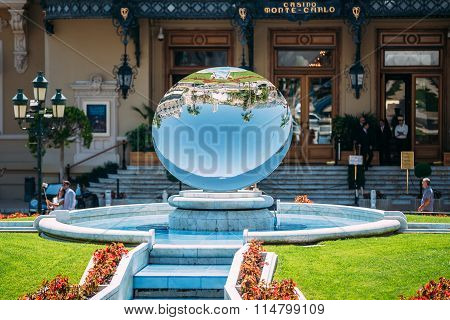 Fountain near Grand casino in Monte Carlo in Monaco
