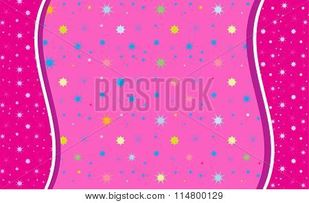 Colorful Stars on Rose vector