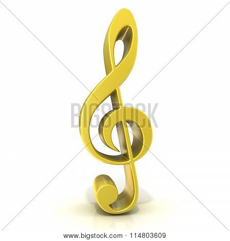Golden treble clef