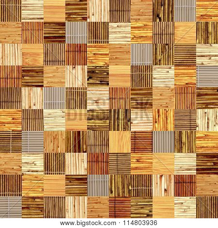 Seamless background with bamboo patterns of different colors. Endless texture can be used for wallpaper, pattern fills, web page background, surface textures