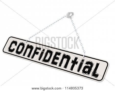 Confidential Banner On White Background