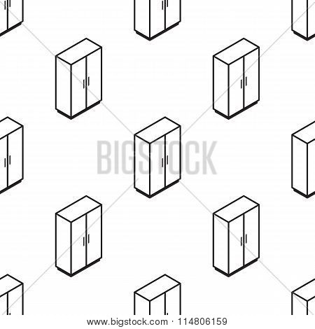 Vector isometric wardrobe seamless pattern