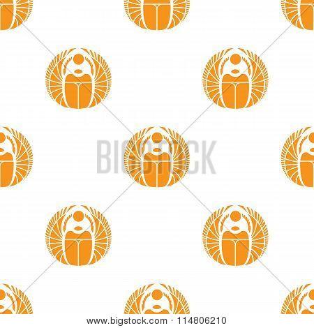 Vector simple orange scarab seamless pattern