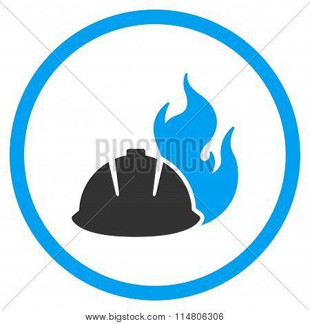 Fire Protection Helmet Icon