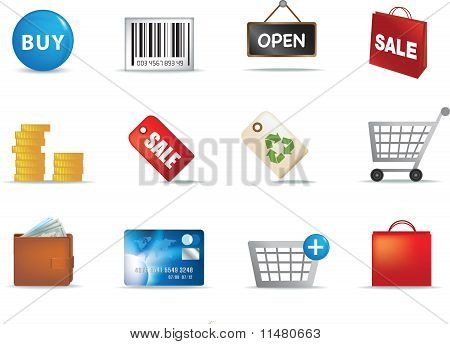 Shopping and Retail Icon Set
