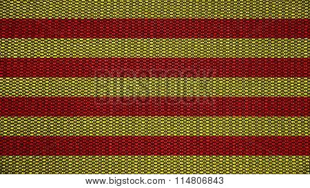 Flag of Catalonia, Catalan Flag painted on stitch