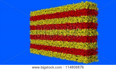 Flag of Catalonia, Catalan Flag made from leaves