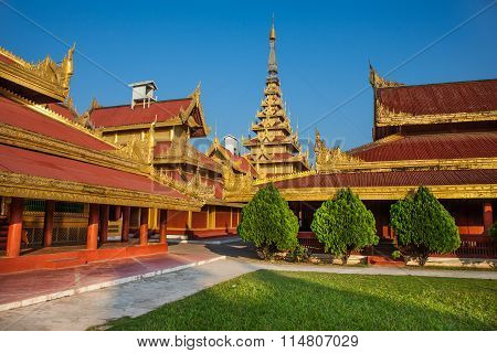 Mandalay Royal Palace in Myanmar