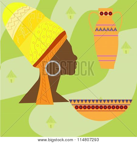 Africa Safari Set Vector Icons. Ritual Objects And Traditional Peoples Of Africa, Vector Illustratio