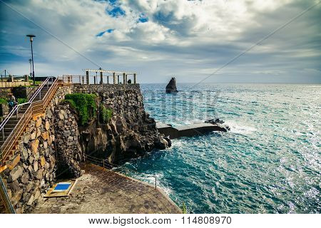 Small City Beach In Funchal